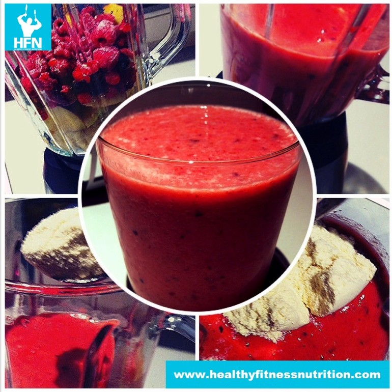 High-Protein Himbeer Fitness-Smoothie Rezept
