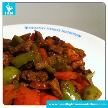 Low-Carb Rezept: Rindsgeschnetzeltes mit Paprika in Sojasauce