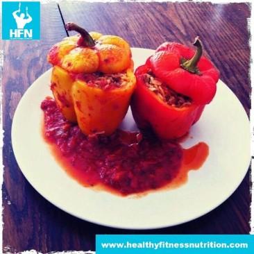 Post-Workout Mahlzeit: Gefüllte Paprika