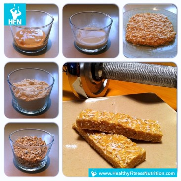 Protein Riegel Rezept (Erdnussbutter Eiweißriegel selber machen)