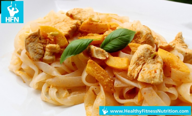 Rotes Thai Curry mit Shirataki Nudeln (Low Carb)