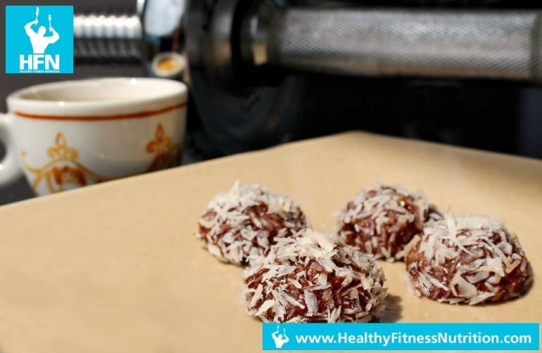Protein Pralinen Fitness Dessert Rezept (Schoko-Kokos)