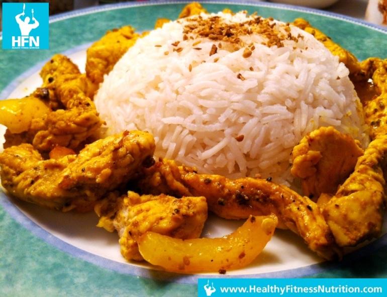 Indischer Wok Rezept (Post-Workout Mahlzeit)