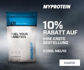Myprotein 10% Rabatt für Neukunden