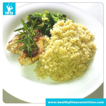 Chicken provencal with Quinoa and Broccoli