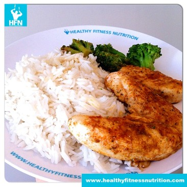 Chicken Breast with Basmati Rice and Broccoli