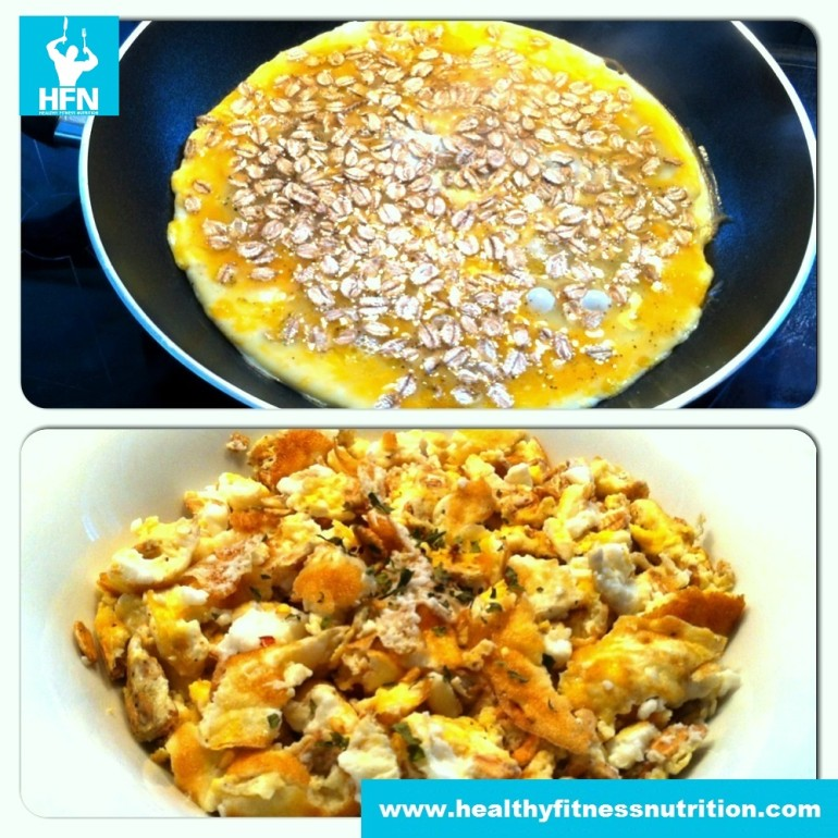 Scrambled eggs with Spelt Flakes