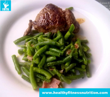 Steak with Green Beans and Bacon