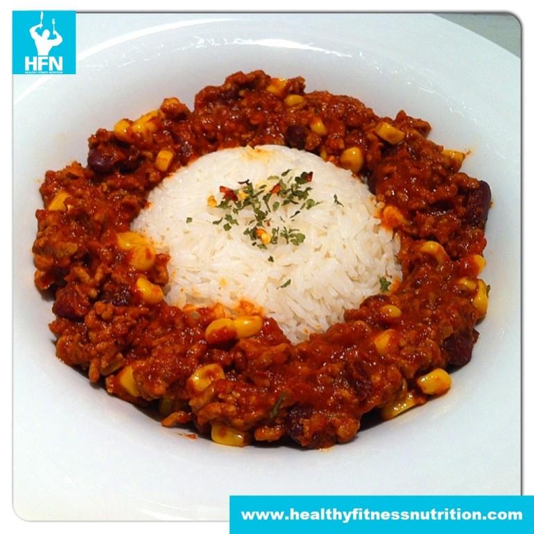 Fitness Recipe: Chili Con Carne with Basmati Rice