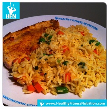 Post-Workout Recipe: Tandoori Masala Turkey with Vegetable Rice