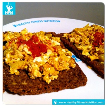 Fitness Recipe: Rye whole wheat bread with scrambled eggs