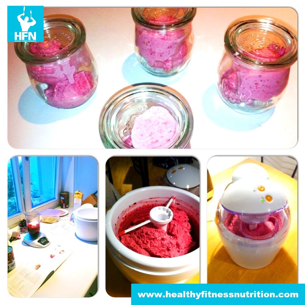 Strawberry Low-Carb Ice Cream (High Protein)