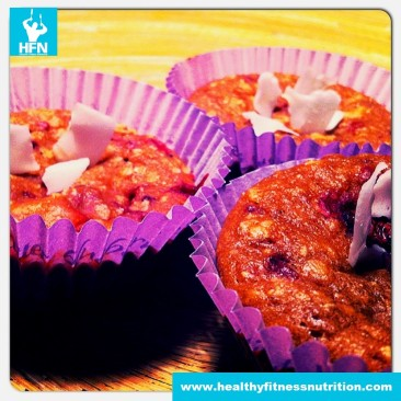 Dessert-Recipe: Healthy Raspberry Protein Muffins
