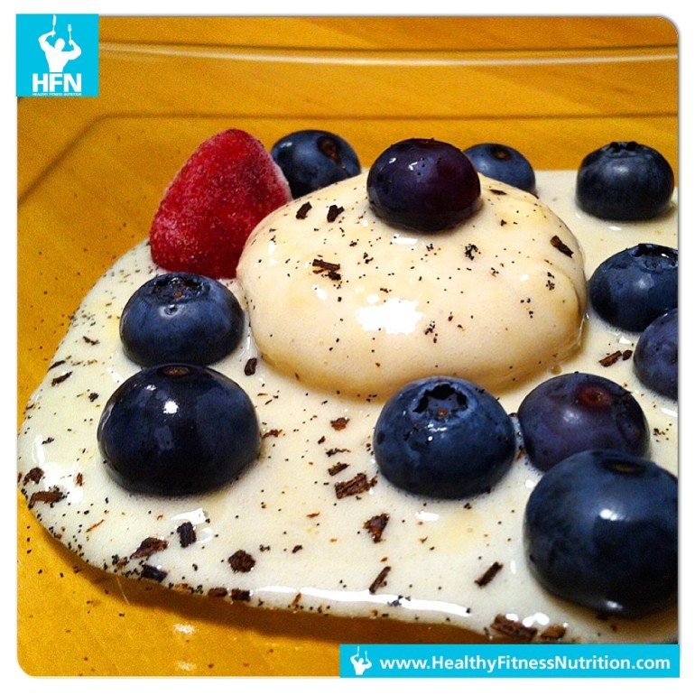 Fitness Dessert Recipe: Vanilla Protein Panna Cotta with Fresh Berries