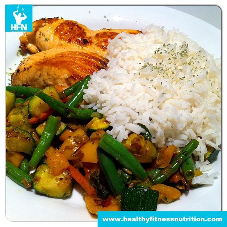 Salmon-filet in Lemon-Ginger Sauce with Basmati Rice