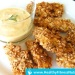 Healthy Chicken Nuggets Recipe (Low-Fat ) with Garlic Sauce